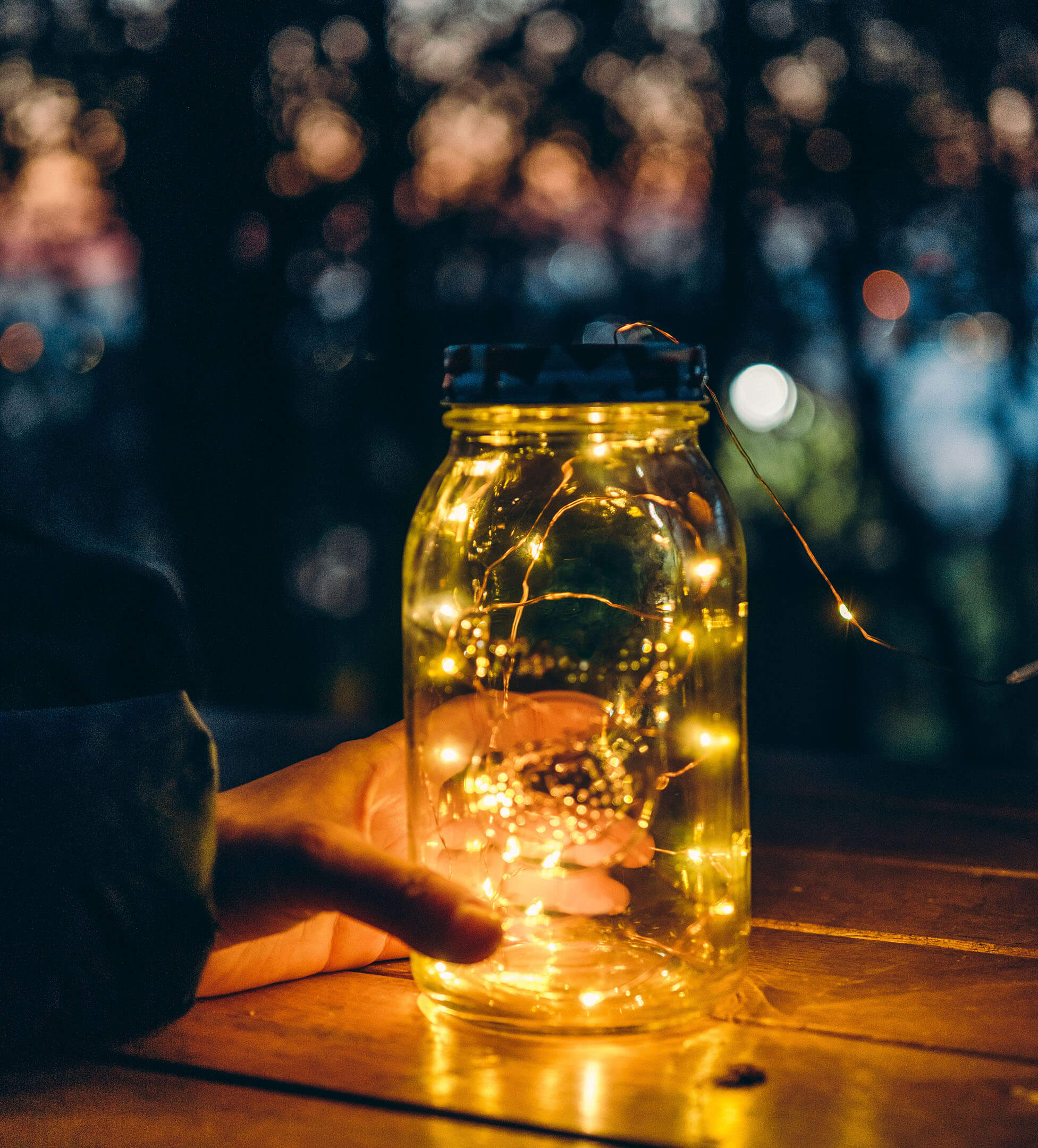 Handheld mason jar lit with led lights creates flawless & consistent social presence as our strategy essential for business